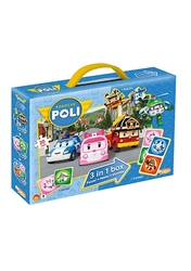 Robocar poli  - 3 in 1 Box (Puzzel+Memo+Domino)