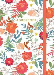 Adresboek (klein) - Flowers