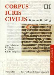 Corpus Iuris Civilis III...