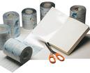 Plastificeerfolie PVC  (FILM 250B 20-13) 250 micro, blinkend, Ph Neutraal, vertraagde hechting, 20 meter, breedte 13cm